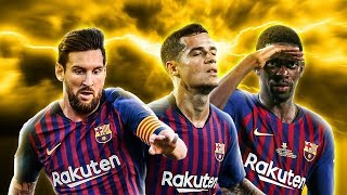 Messi Coutinho Dembele 2018/19  UNSTOPPABLE Trio ● Skills Show