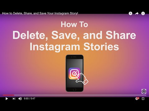 How to Delete, Share, and Save Your Instagram Story!
