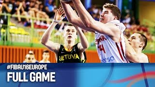 Spain v Lithuania - Full Game - Final - FIBA U16 European Championship 2016