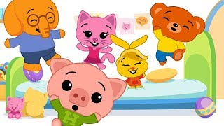 Five Little Friends Jumping on The Bed - Plim Plim | The Children