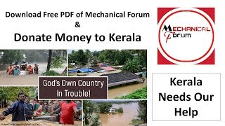 Kerala Flood Relief Fund Donate Money Now & Download Free PDF by Mechanical Forum