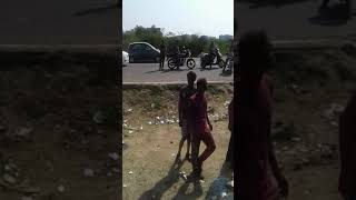 Amaze car accident on ahmedabad