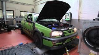 VW Golf MK3 VR6 Turbo Dyno 330PS 0,8 Bar Ladedruck X-Parts
