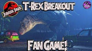 T-Rex Breakout Fan Game!! | Jurassic Park | Let's Play