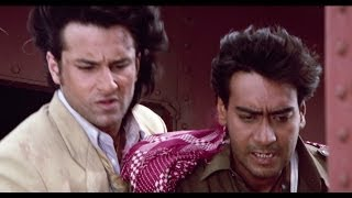 Ajay Devgn's Terrifying Stunt | Kachche Dhaage Movie Scene