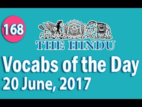 Xxx Mp4 Daily The Hindu Vocabulary 20 June 2017 Learn 10 New Words With Tricks Day 168 3gp Sex