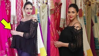 Pregnant Esha Deol's Baby Bump Visible In Public
