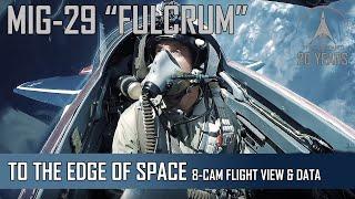 MIG-29 High Altitude - 8-Camera view + Flight Data