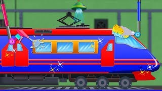 Car Wash Train | Train Videos For Babies | Cartoons For Toddlers by Kids Channel