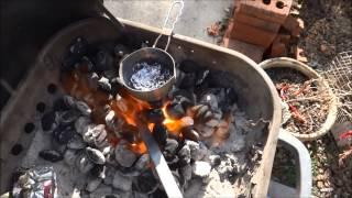 Easy Metal Forge at Home - Melt Aluminum - Bend Steel - Blacksmithing