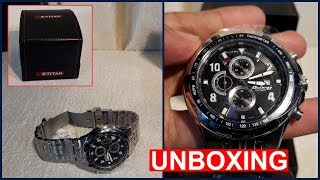 Titan Octane Chronograph Watch Unboxing & Overview