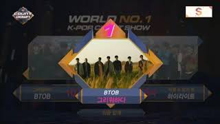 171026 BTOB (비투비) - 그리워하다 (Missing You) win on M!Countdown (winning speech+encore)