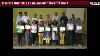 STUDENTS FELICITATED BY BIO DIVERSITY COMMITTE NUVEM