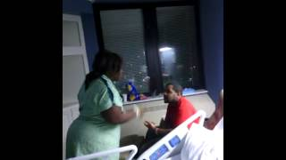 Guy Beats His Mom's BF ass in the Hospital for talking too much
