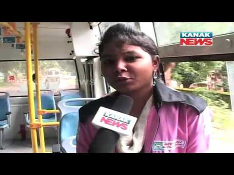 Lady Conductor In City Bus of Koraput
