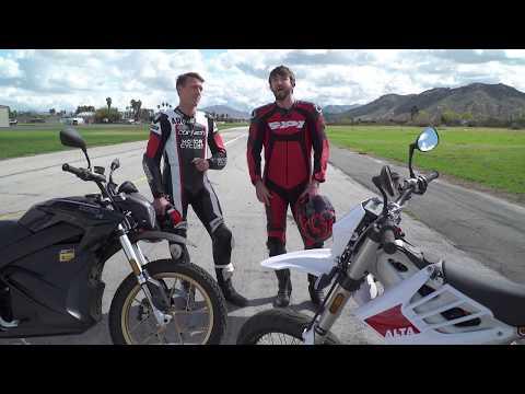 2017 Zero DSR vs. Alta Redshift SM – Drag Race!