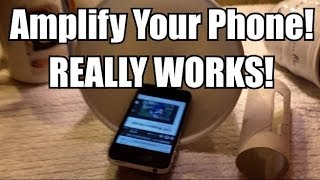 How to make a phone speaker amplifier for FREE!!