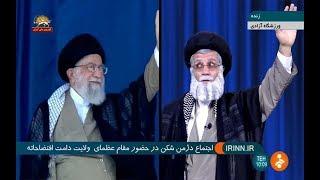 خامنهای در ورزشگاه آزادی- پیک شادی