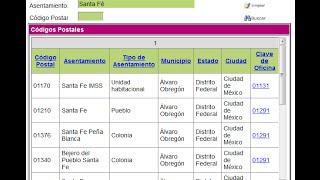 Cómo buscar el Código Postal de TODO México.