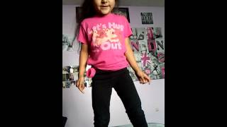 My 5 year old niece dancing to ANACONDA