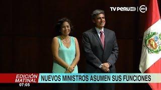 Nuevos ministros asumen funciones