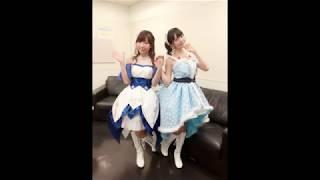 Suzaki Aya is envious of Uesaka Sumire's cleavage [Battlegirl High School]
