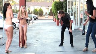 Blowing Girls Clothes Off Prank!!