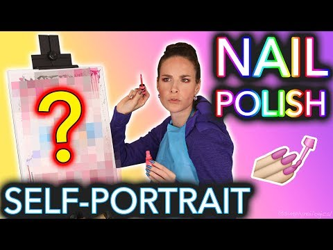 Painting my Self Portrait with Nail Polish Bob Ross can bite me