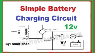 simple battery charging circuit in hindi   by niket shah