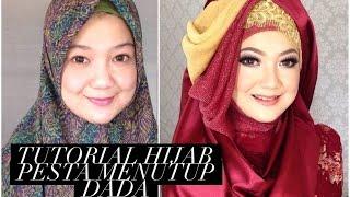 Tutorial Hijab Pesta Menutup Dada