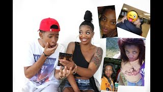 BOYFRIEND REACTS TO OLD PHOTOS OF GIRLFRIEND & HER EX