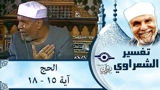 الشيخ الشعراوي | تفسير سورة الحج، (آية ١٥-١٨)