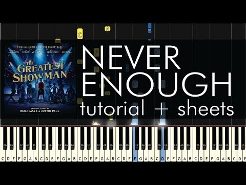 The Greatest Showman - Never Enough - Piano Tutorial + Sheets