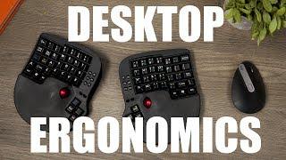 How to Avoid Wrist Pain with Desktop Ergonomics - Logitech MX Vertical Mouse & Key Mouse Track