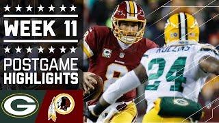 Packers vs. Redskins | NFL Week 11 Game Highlights