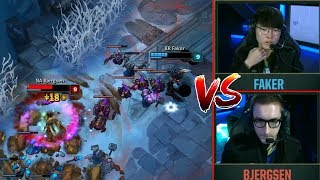 When FAKER and BJERGSEN Finally 1V1..!   NA At International Events...   LoL Stream Moments #60