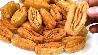 Diwali Recipe I खस्ता नमक पारे मठरी Khasta Namak Para - Layred Nimki - Khasta Mathri namakpare