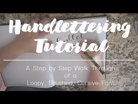 EASY Handlettering Tutorial | How To Handletter A Cursive Font