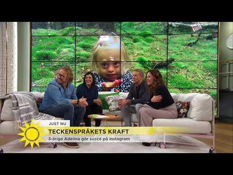 Här tar 3-åriga Adelina över Nyhetsmorgons sändning - Nyhetsmorgon (TV4)
