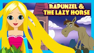 Rapunzel and The Lazy Horse - STORIES | English Stories For Kids