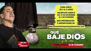 QUE BAJE DIOS Y LO VEA - Torneo popular de fútbol sala - En cines 5 de enero