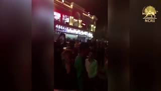 """QOM, #Iran, Aug. 4, 2018. Protesters chanting: """"DEATH TO THE DICTATOR"""