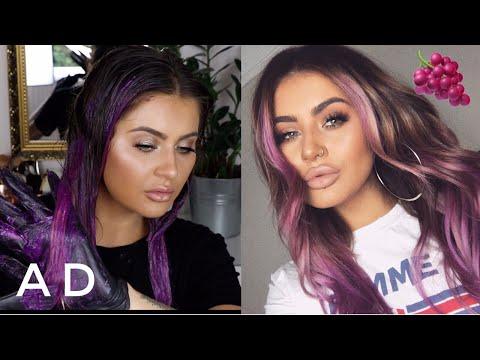 DYING MY HAIR PURPLE | JAMIE GENEVIEVE