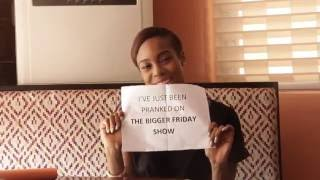 Maria Okan loses her cool as she gets pranked on MTV Base Bigger Friday Show