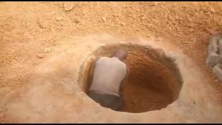 حفر البئر يدويا لمدة أربعين يوما أو أكثر