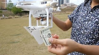 Deliver Money to Homeless Using a Drone!!! (Phantom 3) (Social Experiment)
