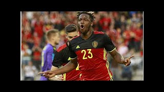 (Image): Michy Batshuayi resumes full training with Belgium squad ahead of World Cup