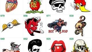 Guitar decals: Rockabilly - Tattoo - Hot Rod - Rat Rod - Punk - Pin up