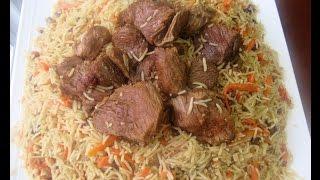 Rice , kabuli pulao ,( qabili, pulao palaw mazari )Uzbeki  pulao recipe قابلی پلو ازبکی افغانی