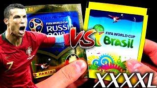 XXXXL UNBOXING BATTLE! 😱🔥 PANINI 2018 FIFA World Cup Sticker vs WM 14